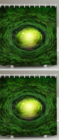 home decor:Tree Hole Sunlight Shower Curtain