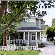 Sherwin Williams' Oyster Bay, SW6206 Ana Williamson Architect-Princeton Road traditional exterior