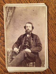 Antique CDV Photo Civil War Era Handsome Man Platteville Wisconsin 1800s | eBay