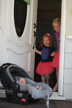 """Reminds me of bringing Jensen home and mom telling the girls to meet her outside to """"bring in the groceries"""" they were so surprised"""