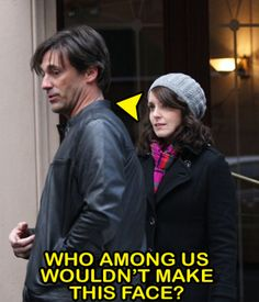 in one expression, Tina Fey sums up the look so many of us give our TV screen each time Jon Hamm graces its presence.