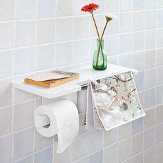 SoBuy® Wall Mounted Bathroom Toilet Paper Roll Holder with Shelf ,FRG175-W,UK | Home, Furniture & DIY, Bath, Toilet Roll Holders | eBay!