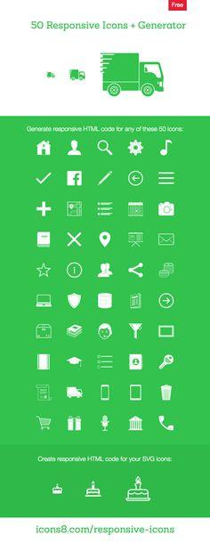 50 Free Responsive Icons + Generator — Icons8