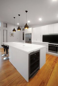 neo design westmere bungalow kitchen renovation black and white » Archipro