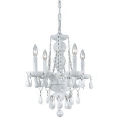 Envogue White Glass Small Chandelier from @Layla_Grayce #laylagrayce #lighting #chandelier