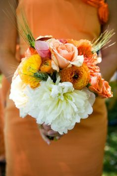 Orange and White Bouquet | photography by http://www.jenstewartphotography.com/