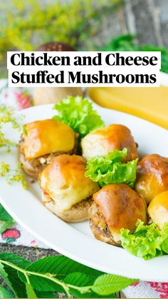 Cheese Stuffed Mushrooms, Stuffed Peppers, Healthy Meal Prep, Healthy Recipes, Appetizer Recipes, Dinner Recipes, Mushroom Recipes, Atkins, How To Cook Pasta