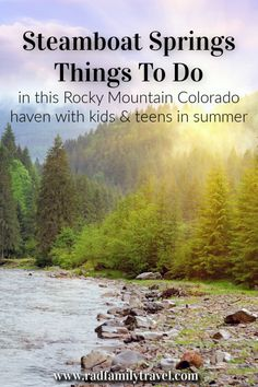 Awesome Summer Vacay Ideas in Steamboat Springs, Colorado - Rad Family Travel Usa Places To Visit, Best Places To Camp, Visit Colorado, Colorado Trip, Colorado Usa, Dream Vacations, Vacation Spots, Family Vacations, Steamboat Springs Colorado