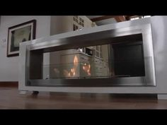 Santa Cruz 2 Sided Ethanol Fireplace by Eco Feu Foyers, Wall Mounted Fireplace, Bioethanol Fireplace, Side Wall, Indoor Outdoor, Dividing Wall, Modern Fireplaces, Ss, House