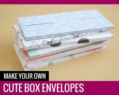 Box Envelopes - Paper and Landscapes