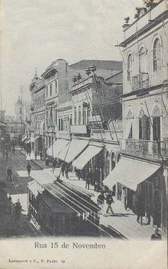 Início do século 20. Rua 15 de Novembro, região da Sé.