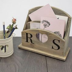 Check this out!! The Kitchen Gift Company have some great deals on Kitchen Gadgets & Gifts Personalised Mango Wood Letter Rack - Initials #kitchengiftco
