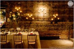 Romantic and rustic lighting at this A New Leaf wedding