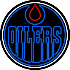 Neon Oilers Edmonton Oilers, Nhl, Hockey Logos, Hockey World, Logo Real, Toronto Maple, Texans, Neon Signs, Alberta Canada