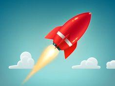 Rocket-dribbble