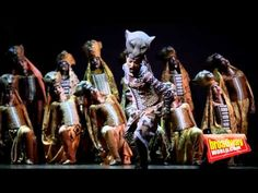 Lion King: Shadowland Broadway Performance - YouTube; good lioness movement at beginning; like the simple backing up of lionesses