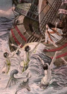 "Hans Christian Andersen ""The Little Mermaid"" illustrated by Charles Santore"