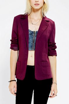 Sparkle & Fade Ponte Knit Blazer, $49, available at Urban Outfitters