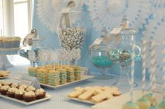Baby Blue and Silver (Grey) Baptism Party Ideas | Photo 10 of 19 | Catch My Party