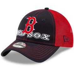51289ff5db657 Toddler Boston Red Sox New Era Navy Child Cheerful Pick Trucker 9TWENTY Hat