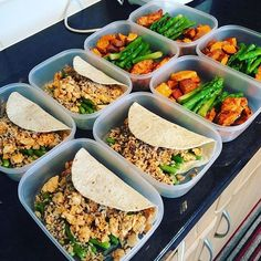 Healthier versions of your favorite foods can be done with small substitutions  as @oliviadaa91 has done with her meal prep! She has tacos made with mini wheat & white wraps minced turkey quinoa rice & green beans as well as chicken with asparagus and roasted sweet potatoes! - Learn about making small changes in your meals to see better results in your health with @mealplanmagic! - ALL-IN-ONE TOOL & GUIDES -  Build Custom Plans & Set Nutrition Goals  BMR BMI & Max Rate Calculator  Get Your…