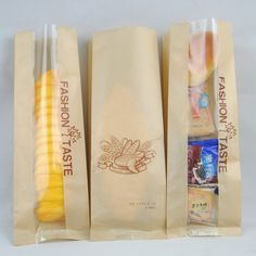 (50pcs/lot) 10x30x4 cm Kraft Paper Bread Packaging Bags ,Home Baking Party Food Bags SG1509-in Packaging Bags from Industry & Business on Aliexpress.com | Alibaba Group