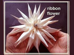 SPIKEY RIBBON FLOWER, Bridal Flower, Fashion Design, Haute Couture, How ...
