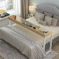 27 fascinating teenage girl bedroom ideas with beautiful decor 1 Cheap Furniture, Bedroom Furniture, Bedroom Decor, Studio Apartment Furniture, Bedroom Ideas, Overbed Table, Estilo Interior, Cheap Couch, Teenage Girl Bedrooms