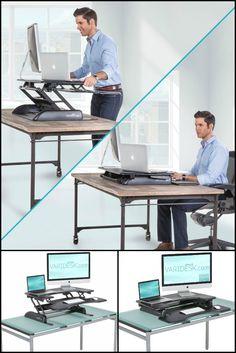 Office Furniture Standing Desk Standing From A Chair | Sit Stand Desk |  Best Desk Ideas | Pinterest