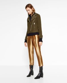 Image 1 of SHINY TROUSERS from Zara