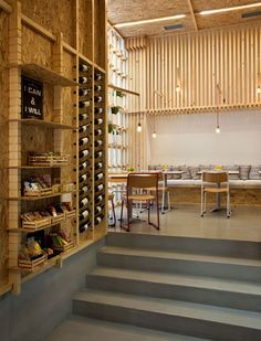 IT Café By Divercity Architects In Athens, Greece – Art & Design Inspiration Cafe Restaurant, Design Bar Restaurant, Coffee Shop Design, Cafe Design, Bar Interior, Interior And Exterior, Café Bar, Cafe Bistro, Hospitality Design