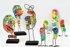 Picasso sculptures with wire and  Gauze Bandage