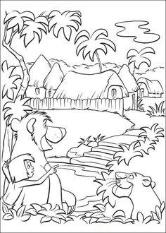 ausmalbilder dschungelbuch 01 | ausmalbilder