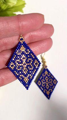 Bead Embroidery Jewelry For You or Someone You Love by SplendidBeadsBklyn Beaded Earrings Patterns, Bead Loom Patterns, Beading Patterns, Bead Embroidery Jewelry, Beaded Embroidery, Beaded Jewelry, Seed Bead Tutorials, Beading Tutorials, Seed Bead Bracelets