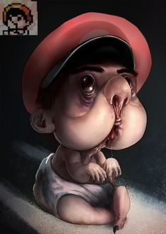 Somethings not right here. Card Games, Mario, Creepy Stuff, Entertaining, Movie Posters, Anime, Baby, Creepy Things, Film Poster