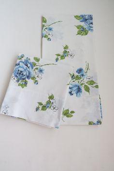 Vintage Blue Roses