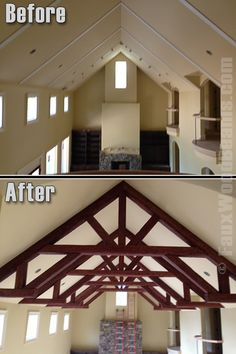 Ceilings With A Faux Wood Truss On Pinterest Faux Beams