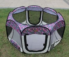 New Small Fashion Flower Pet Dog Cat Tent Playpen Exercise Play Pen Soft Crate - http://www.thepuppy.org/new-small-fashion-flower-pet-dog-cat-tent-playpen-exercise-play-pen-soft-crate/