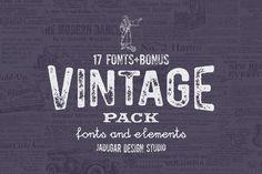 Vintage Pack by Jadugar Design Studio on @creativemarket