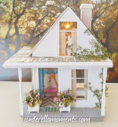 Cinderella Moments: Baleine Beach Cottage Dollhouse Finished