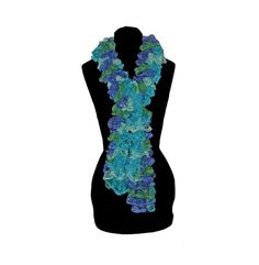 Hand Knit Scarf  Twist  Fashion Ruffle Scarf in by craftcrazy4u, $18.00