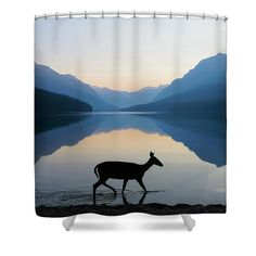the grace of wild things shower curtain for sale by dustin lefevre