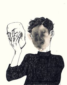 """Stop romanticizing people who hurt you."" —absentions, Six Word Story (Artwork by st pam)"
