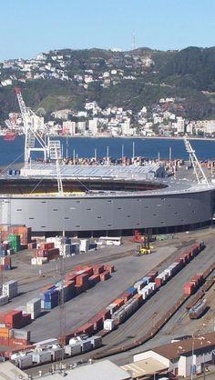 Westpac Stadium, Waterloo Quay, Wellington, North Island, New Zealand,