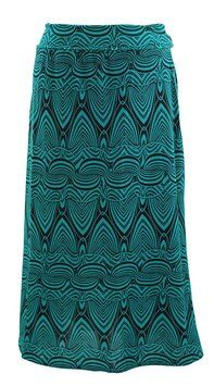 Boutique Plus Size Maxi Skirt GREEN/BLK