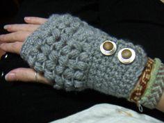 Crochet Fingerless Gloves - Free Pattern