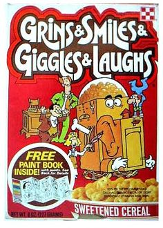 grins giggles smiles and laughs cereal - Google Search