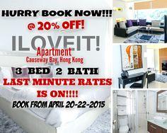 20% off @ ILOVEIT Apartment in Causeway Bay, Hong Kong