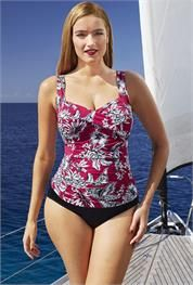 Plus Size Antigua Twist-Front Tankini