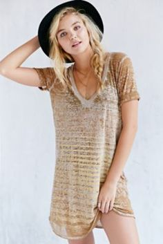 Project Social T Easy V-Neck Tee Dress